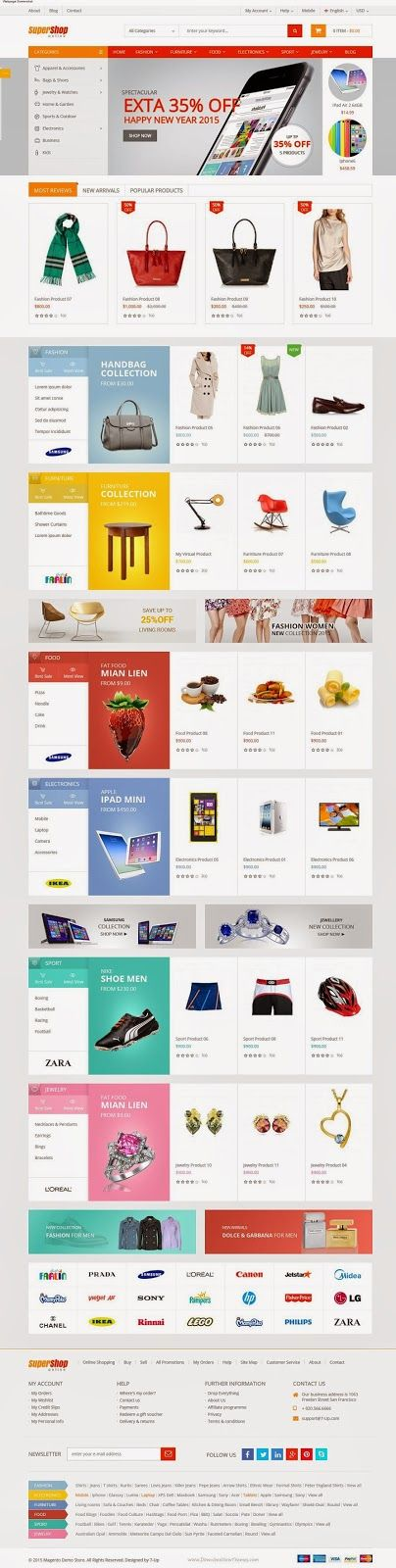 72 best Responsive Magento Themes images on Pinterest | Template ...