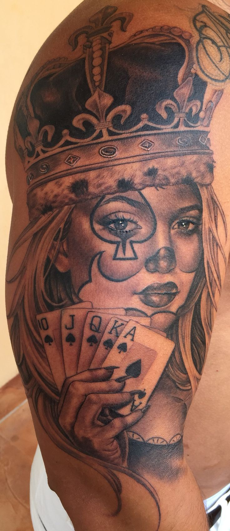 Queen tattoo Ace of Queens tattoo done by Tatu Baby