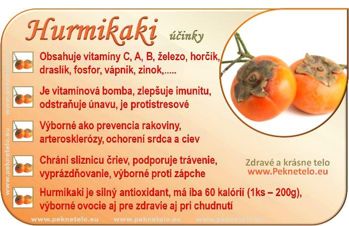 Hurmikaki - účinky na zdravie a chudnutie