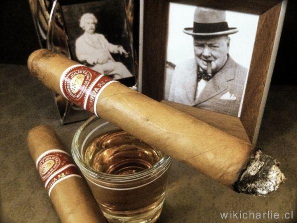 """Churchill estuvo en la Habana, Cuba en 1946, país que le fascinaba. Un dato que apenas se conoce es que Pinar del Río, la más occidental de las provincias cubanas y donde se cosecha el mejor tabaco negro del mundo, distinguió a Churchill con el título de Hijo Predilecto.       """" Yo bebo mucho, Yo duermo poco y fumo puro tras puro. Estas son las razones por las cuales estoy al 200%"""". Sir Winston Churchill ante una irritación con el Mariscal Montgomery"""