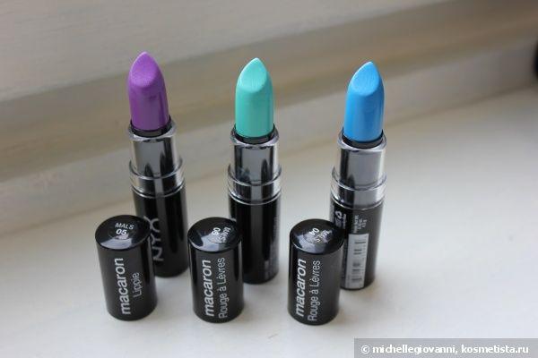 Nyx Macaron Lippies в оттенках Violet (mals05), Pistachio (mals06) и Blue Velvet (mals04) отзывы — Отзывы о косметике — Косметиста