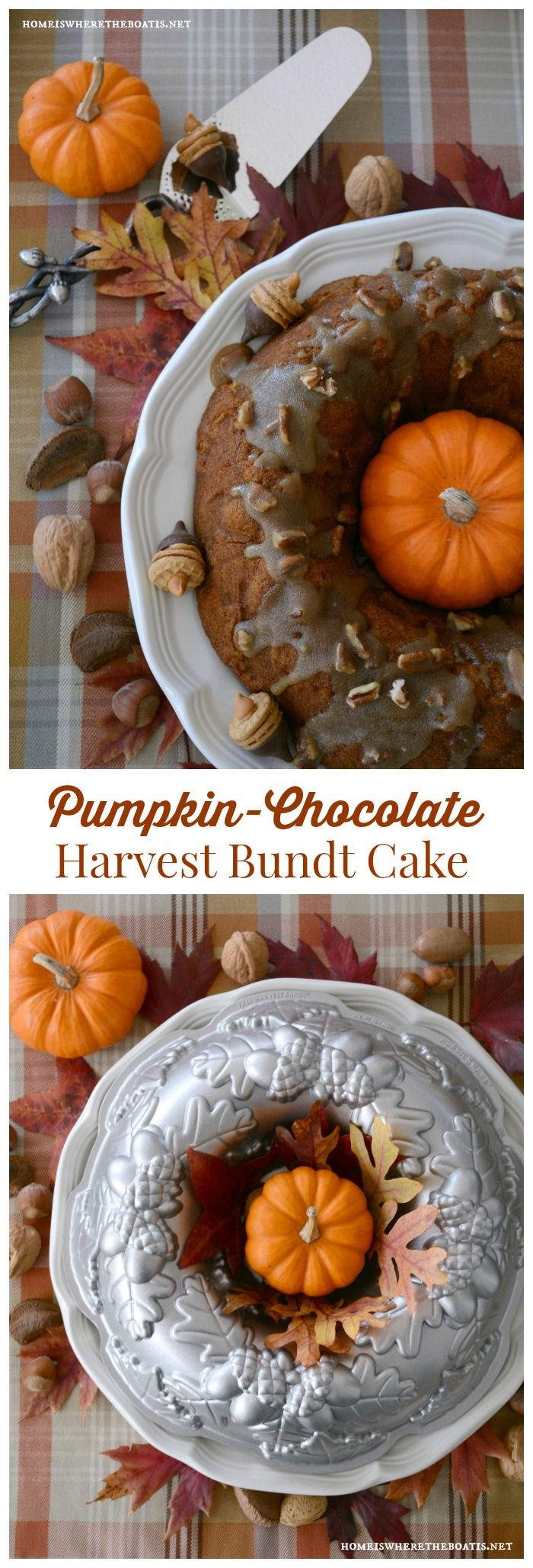 Keep Calm and Bundt On: Pumpkin Chocolate Harvest Bundt Cake!