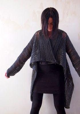 VMSomⒶ KOPPA: Tummanharmaa ruututakki another easy wearable design #inspired