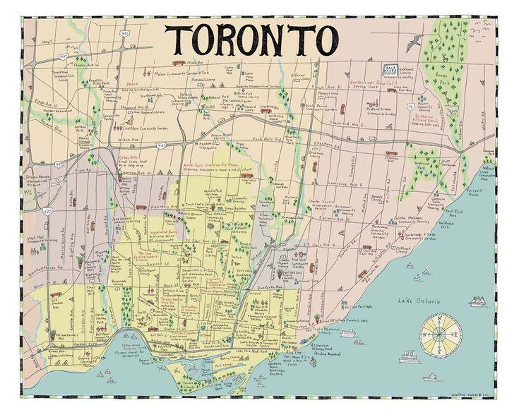 Marlena Zuber - hand drawn maps - Toronto