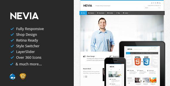 Nevia - Responsive Drupal Theme
