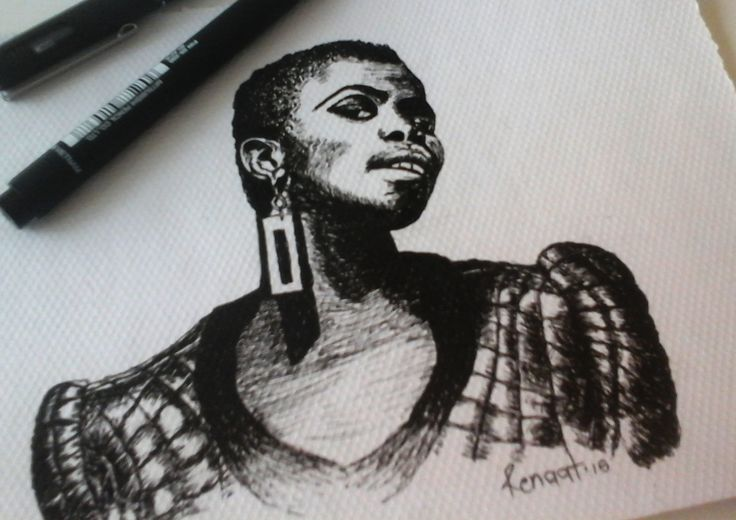 Muso Collection - Zolani Mahola A collection of pen drawings of South African Music Icons.