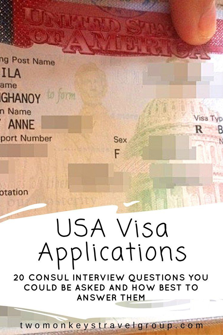 USA Visa Applications – 20 Consul interview questions you could be asked and how best to answer them.