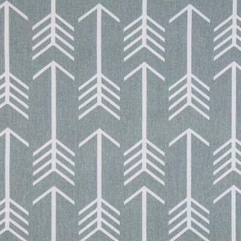 Hobby Lobby Cool Gray & White Arrow Cotton Duck Cloth Fabric