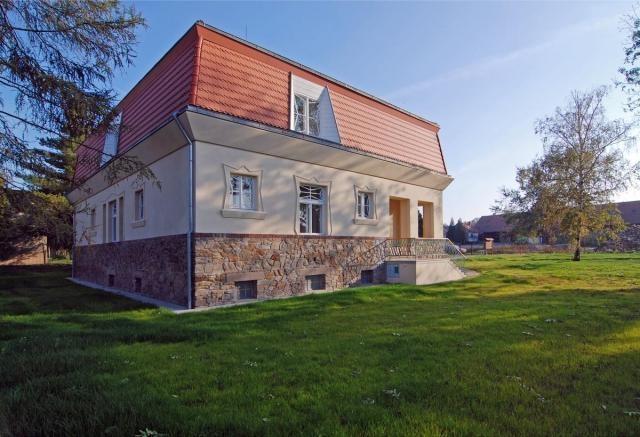 The cubist  villa in a picturesque village of Libodřice, District of Kolín, Central Bohemian Region.