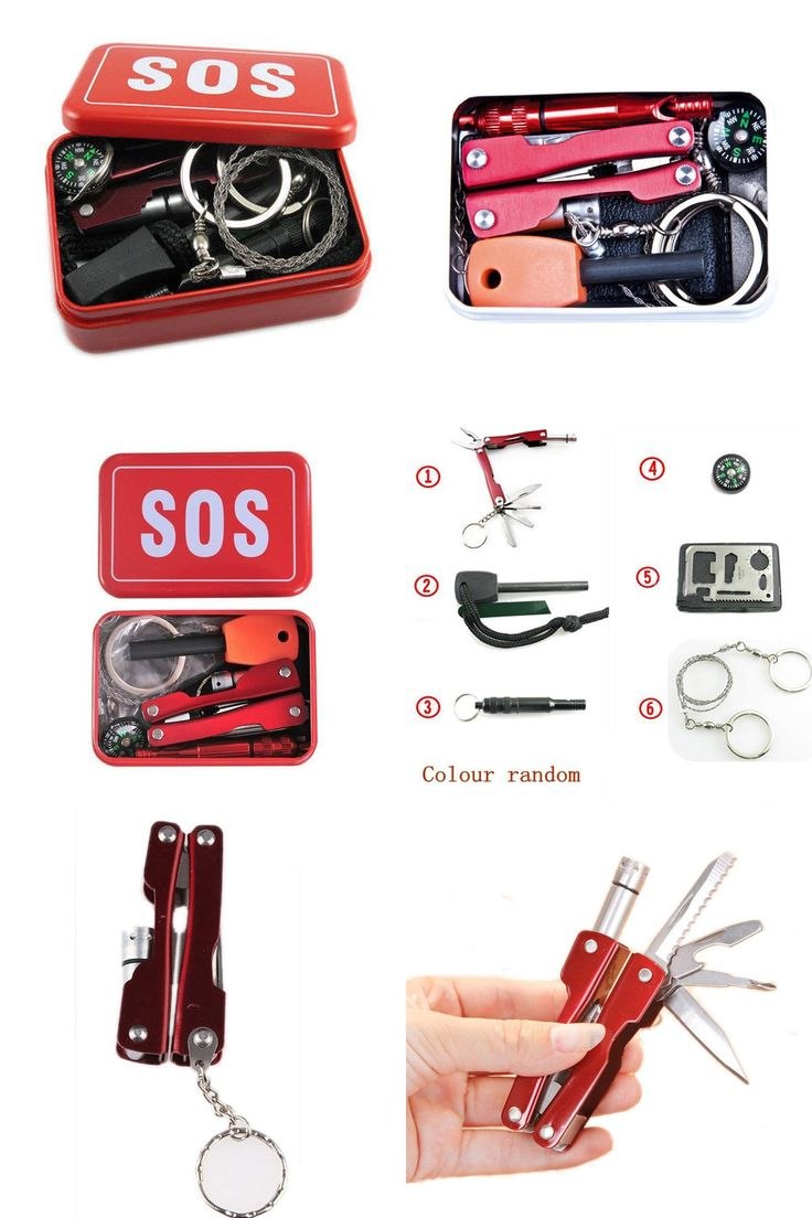[Visit to Buy] Hot Sale Portable Emergency Equipment SOS Kit Car Earthquake Emergency Supplies SOS Outdoor Camping Survival Tool Survival Gear #Advertisement