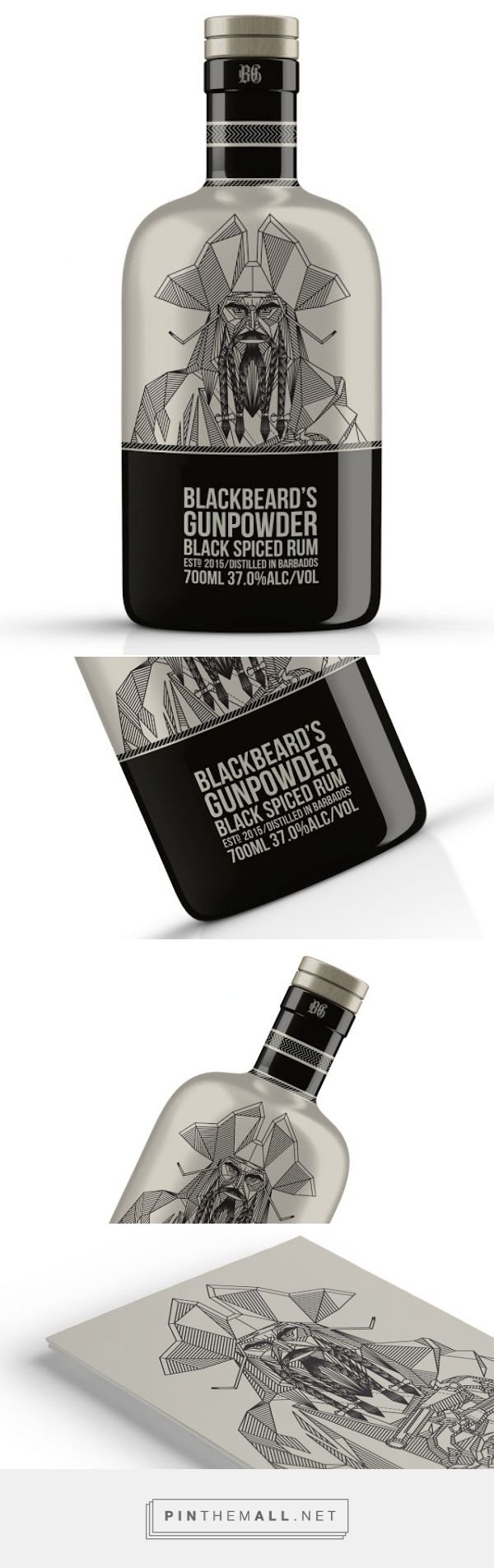 Blackbeard's Gunpowder Rum on Packaging of the World - Creative Package Design Gallery - created via http://pinthemall.net