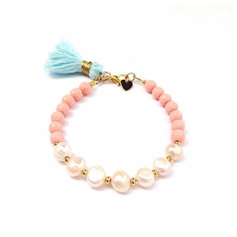 Pretty in Pearls Tassel Bracelet by LovesAffect on Etsy, $24.00