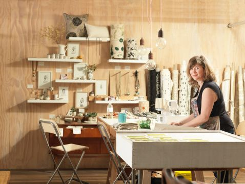 Photographed by Elke Meitzel - I think this image works really well in showing an artist and their work station