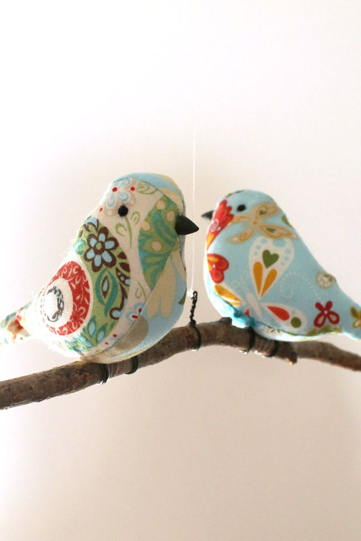 Bird Mobile Decoration - Birds Hanging Twig - Unique New Home/Baby Gift. £20.00, via Etsy.