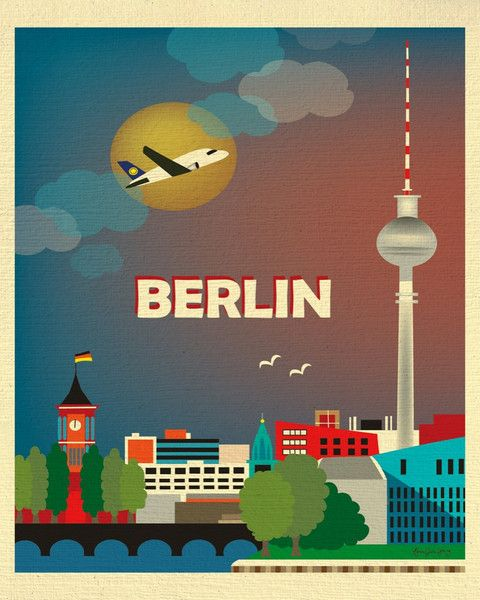 Berlin, Germany wall art is available in an array of finishes, materials, and…