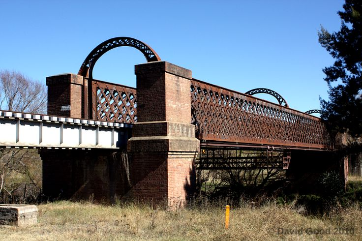 The historic iron lattice bridge over the Macdonald River at Woolbrook, between Tamworth and Armidale on the Great Northern Railway.
