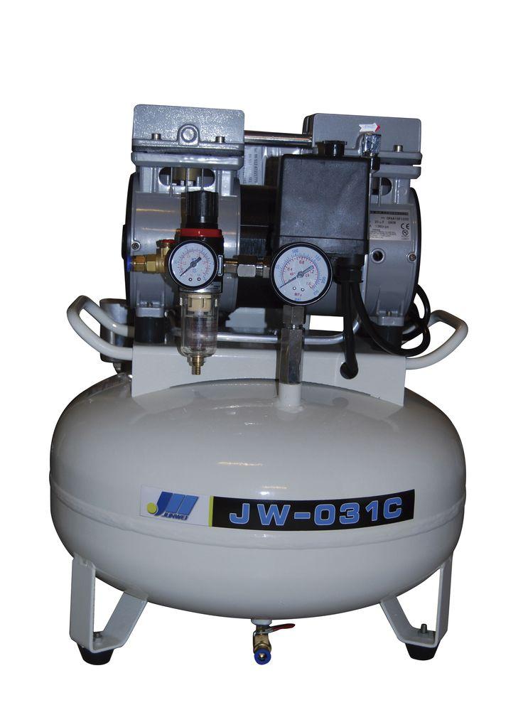 Compresor JunWei 0.75HP  JW-031C Compresor 0.75HP 550W  Flujo aire: 62 Litros x minutos   MaxPresion 0.8Mpa   Presion Arranque 0.5Mpa  1400RPM  Tanque: 30L vertical   Caracteristicas: Motor con cableado de cobre de alta calidad y larga vida de servicio  Valvula solenoide con cuerpo metalico Cilindros de maquinado preciso con aros de material plastico importado de Europa de mayor vida util -Cod. 8775