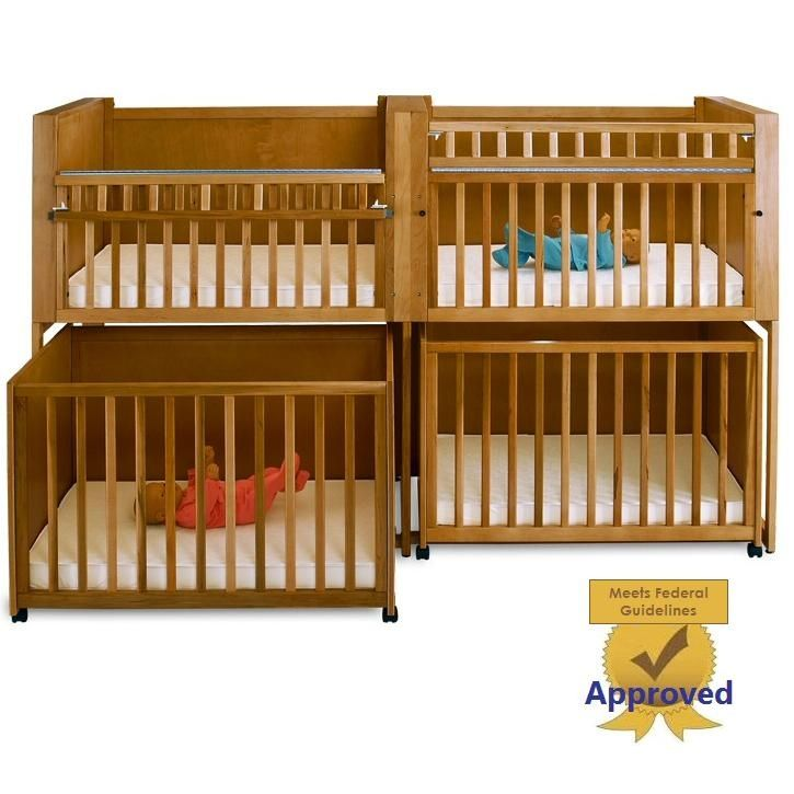 Four Unit Infant Bunkie Crib, Stacking Cribs, Stackable ...