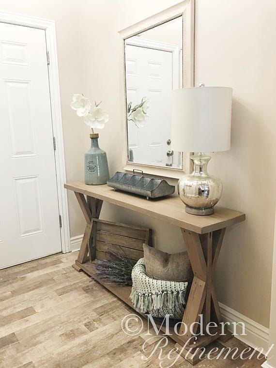 Mesa de entrada de casa de campo r stica mesa de sof - Entradas rusticas ...