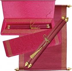Scroll Wedding Cards, Indian Wedding Cards, Shubhankar Wedding Cards offer samples of Wedding, Marriage Invitations, Shaadi Cards like Indian...