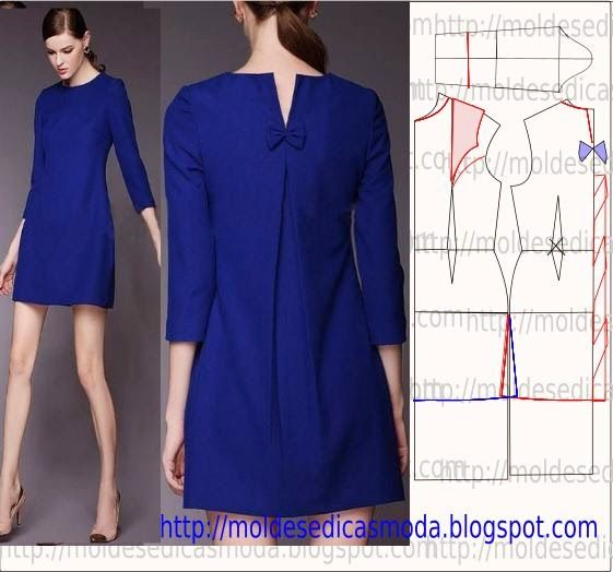 Blue dress, pattern instructions