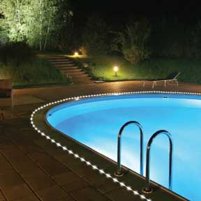 ingenious landscape lighting around pool. 11 Creative Ways To Use Rope Lighting In The Garden  patio or pool area 24 best Pool Lights images on Pinterest Pools Swimming pools