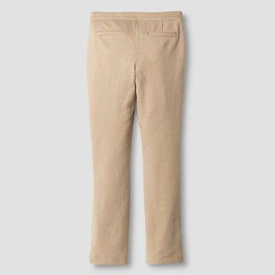 Girls' Ponte Knit Pants Cat & Jack Khaki (Green) XL, Girl's