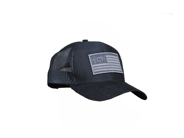 East Coast Waterfowl Black American Flag Patch Snap Back