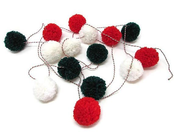 Keep the kids busy this Christmas with this fun and super-easy craft kit to make your own pompom garland and baubles.#christmas#christmascrafts #christmasactivities#activitiesforkids #holidayactivities#pompoms
