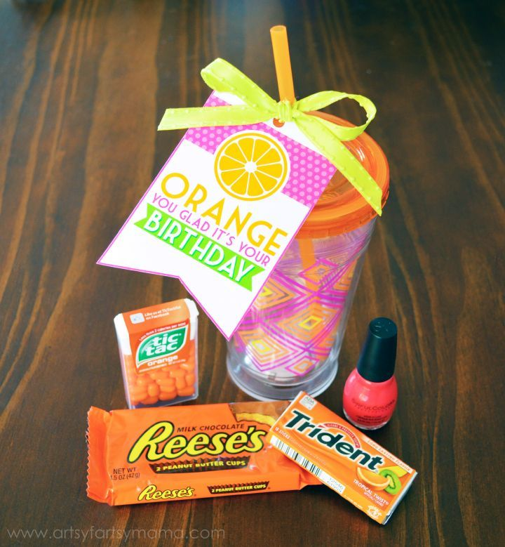 """Orange You Glad It's Your Birthday"" Gift Idea employee recognition #motivation"