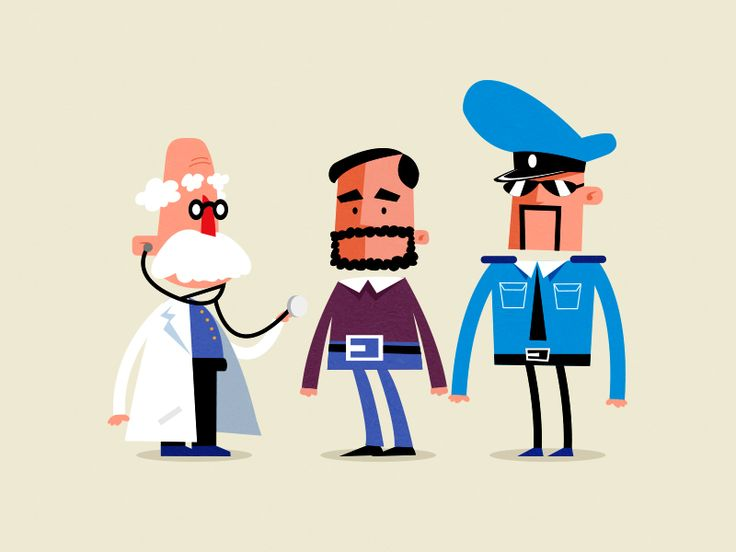 3 characters for an animation video.