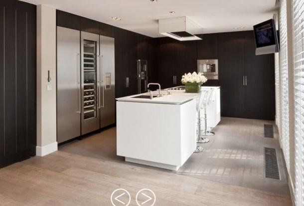 Piet boon keukens keuken wit metallic zwart door - Betegeld zwart wit geblokte keuken ...