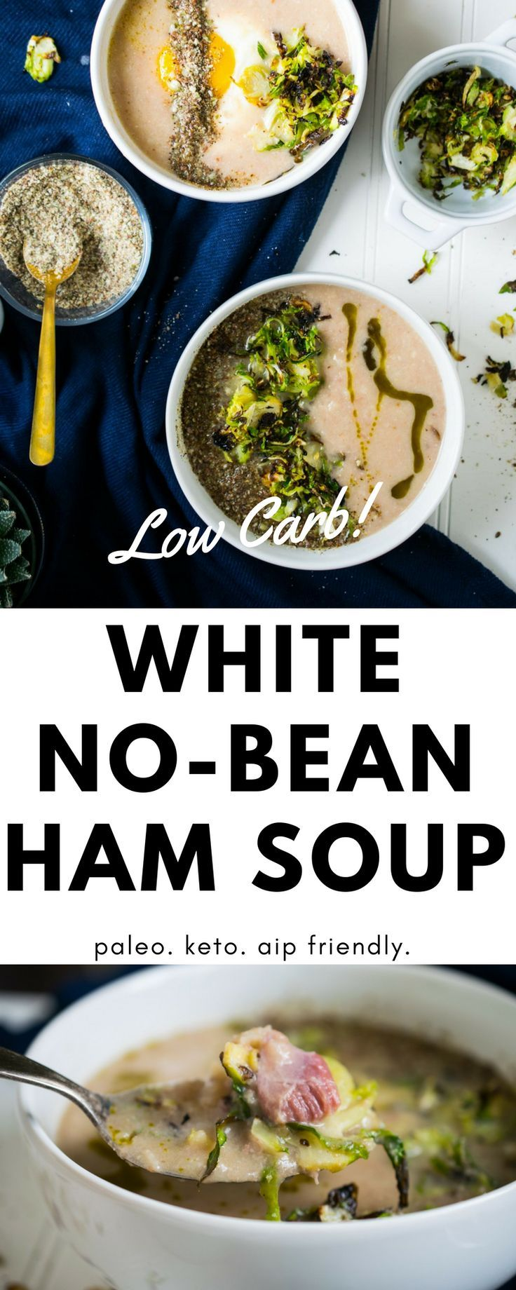White No-Bean + Ham Soup (Paleo, Keto, AIP friendly) • The Castaway Kitchen