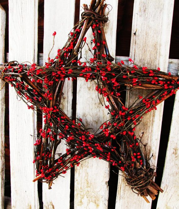 Scented CHRISTMAS STAR-Red Berry Star Wall by WildRidgeDesign