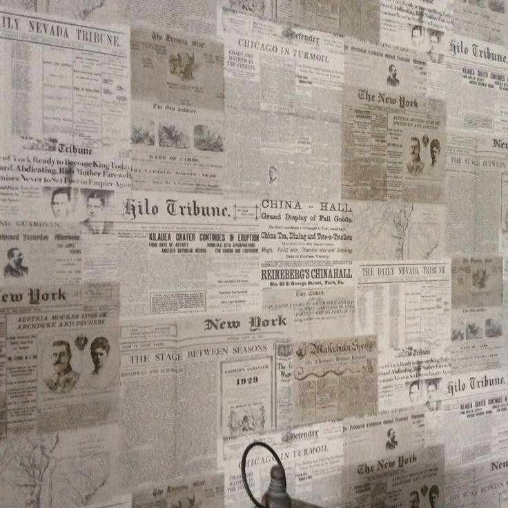 Krantenbehangetje