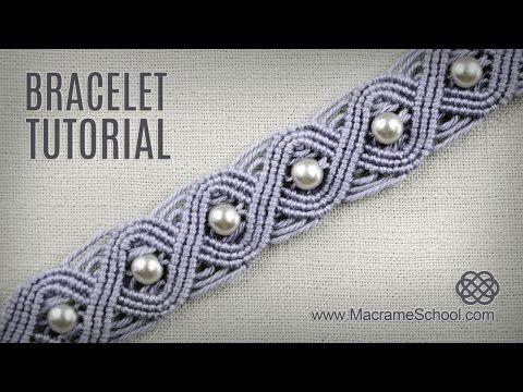 Eternal Wave Bracelet Tutorial in Vintage Style | Macrame School - YouTube