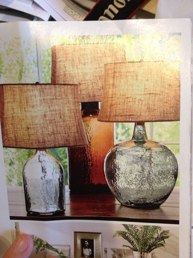 I Love These Lamps From Pottery Barn, Love The Burlap Lampshade And The  Casual Feel