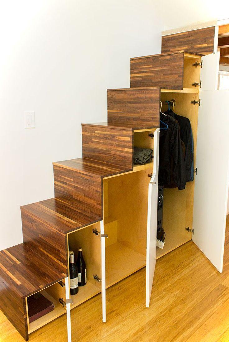 Großartig Schrank Unter Offener Treppe Selber Bauen Beste Wahl Tiny Living On Hikari Box Under Stairs