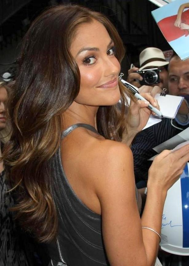 Minka Kelly - hair colour.  have this length and style already, but it's time to put some summer highlights in like this!