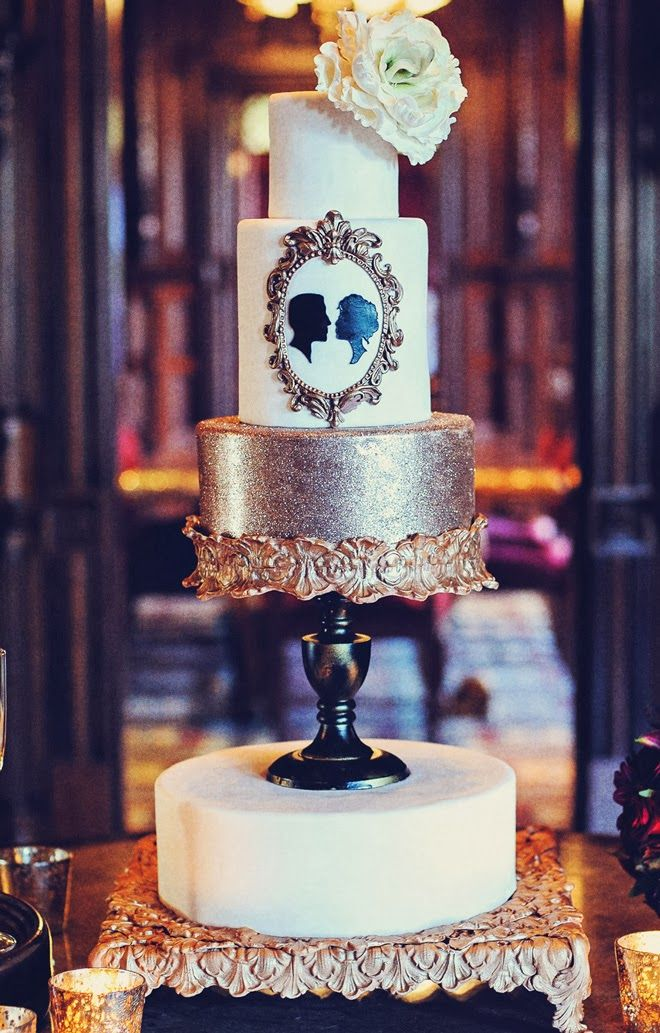 Gorgeous old world #wedding #cake ~ New Year's Wedding Inspiration : Somewhere In Time | bellethemagazine.com