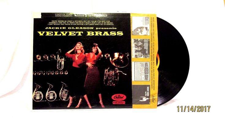 1959 Jackie Gleason Velvet Brass Vinyl LP 33 Record  Capitol SW 859 Jazz #EasyListening