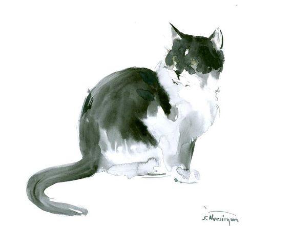 17 meilleures id es propos de croquis de chat sur - Chat dessin noir et blanc ...