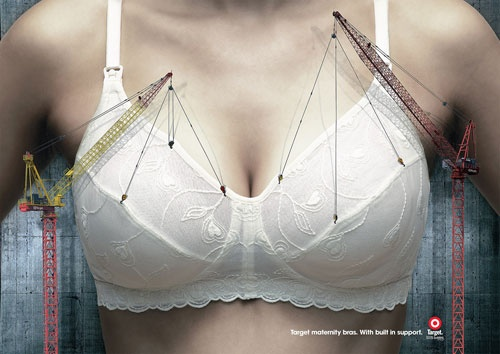 Target – Maternity bras. With built in support