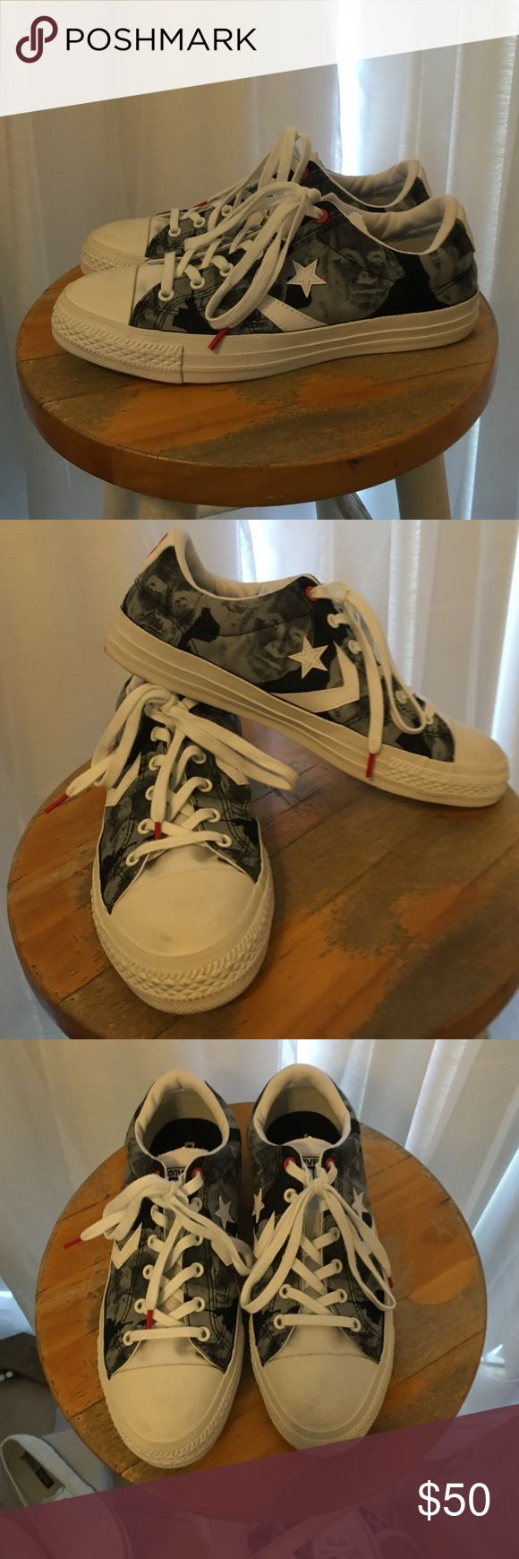 Converse one star tie dye sneakers like new!! These are so cool in white grey & black with red accents. All you need are these kicks to make a fashionista statement!! Converse one star Shoes Sneakers
