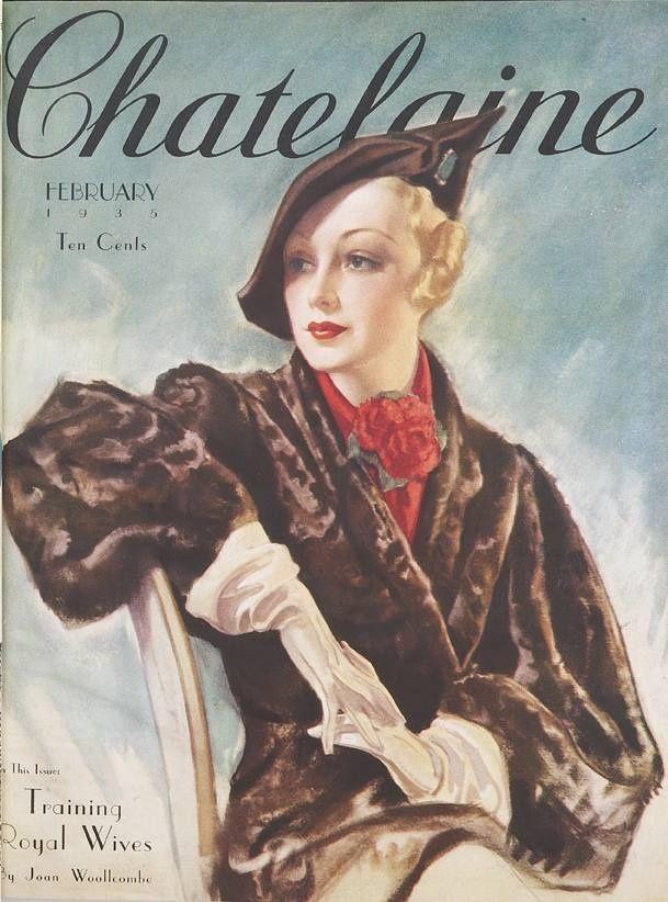 vintage Chatelaine magazine   February 1935 -