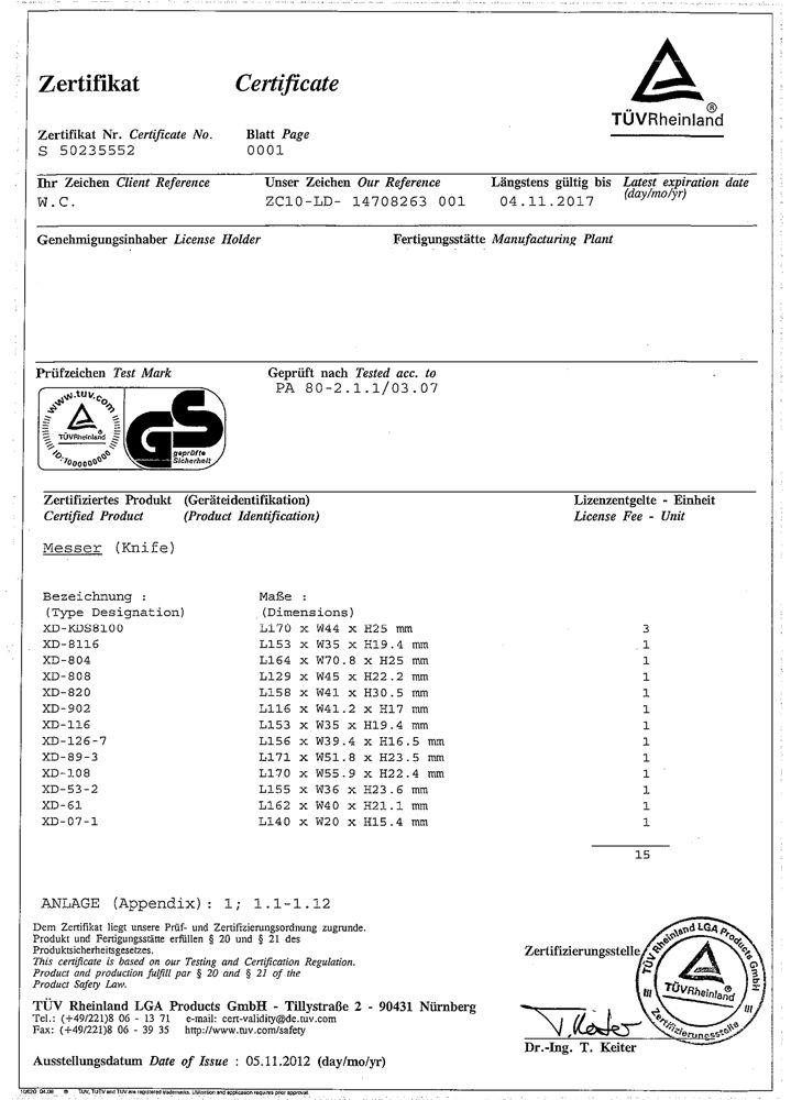 Cutter 8 lame model XD-89   Venus DSH
