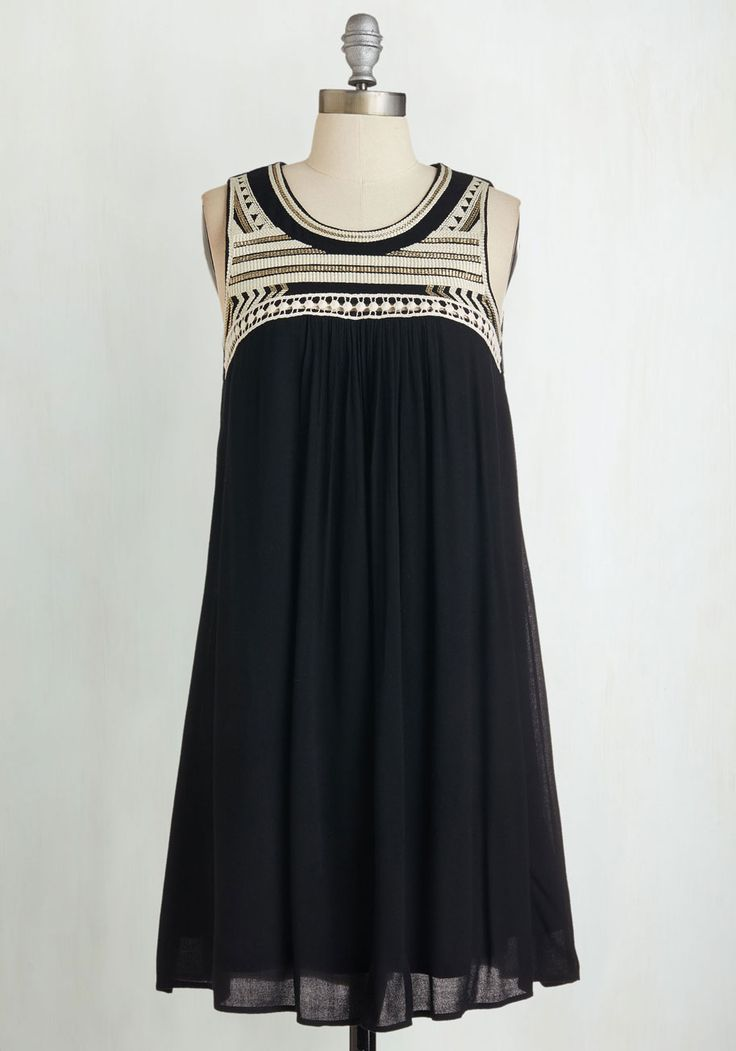 Zest Wishes Dress. At your last hurrah before your departure, you look and feel gorgeous in this shift sundress! #black #modcloth