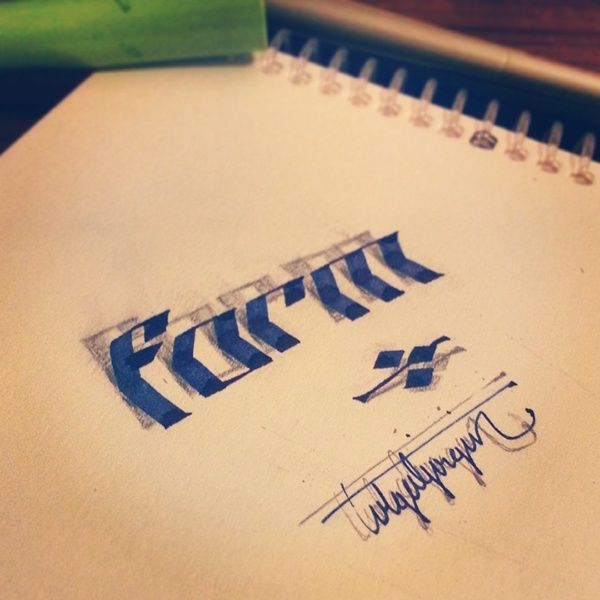 3D Lettering with Parallelpen&Pencil . I hope you will like them. Thank you very much.