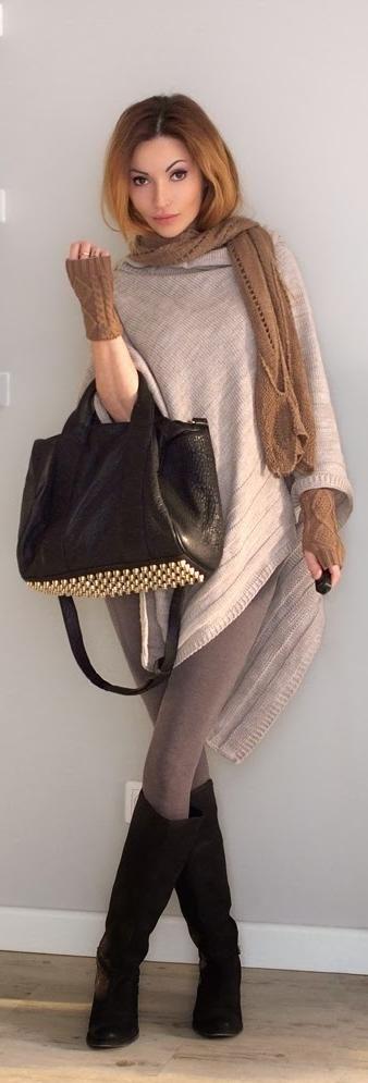 Cozy... Kimono - Allegro Scarf - Allegro Mittens - Kari Boots - Asos (old) Leggings - Boutique