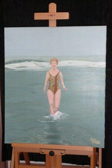Zelfportret (nieuwjaarsduik 2004)